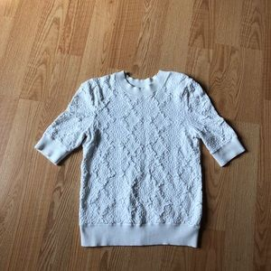 Free people white sweater size:S cotton warm